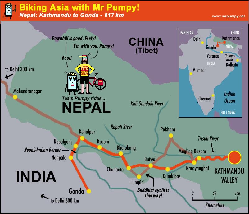 Biking Asia with Mr Pumpy Cycling Nepal
